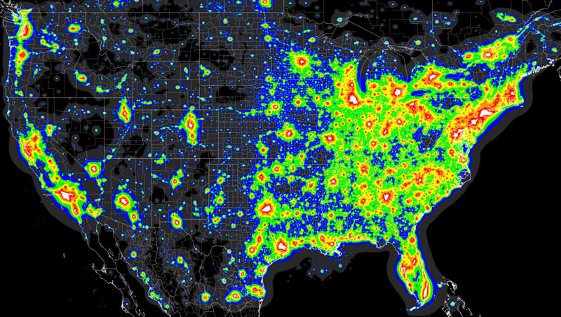 Light Pollution in the U.S.